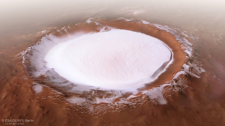 mars ice lake