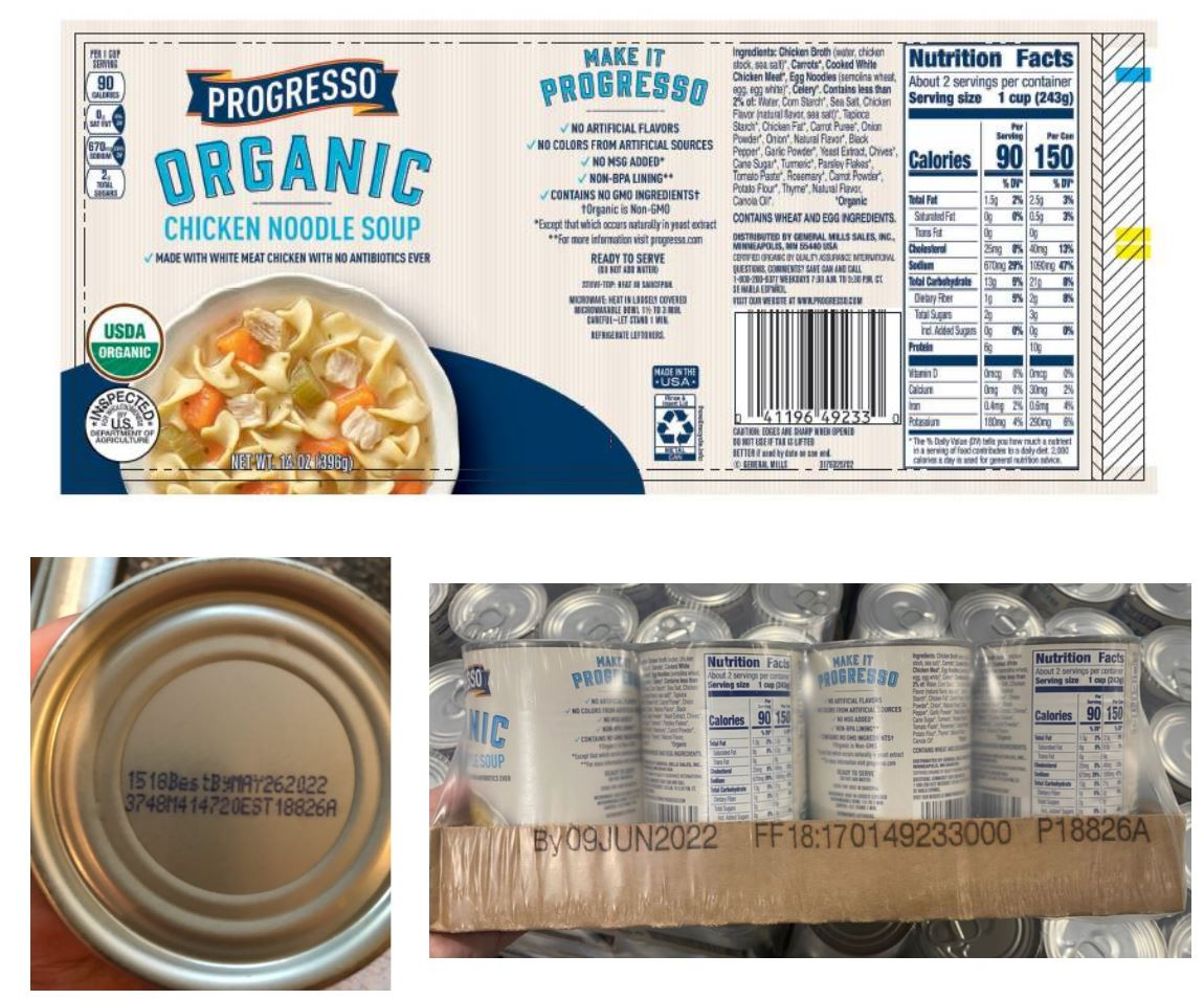 15,000 pounds of Progresso chicken soup recalled because it's not chicken soup