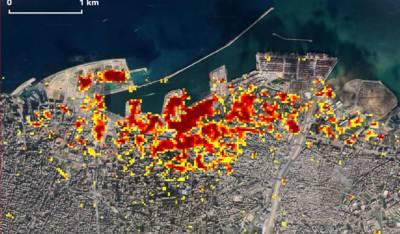 beirut satellite images