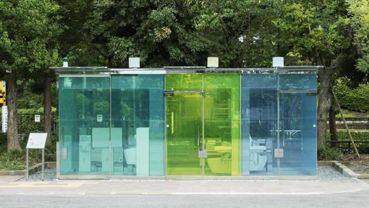 transparent toilets