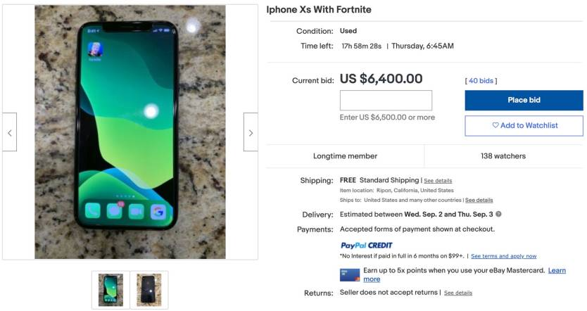 Fortnite iPhone Sale