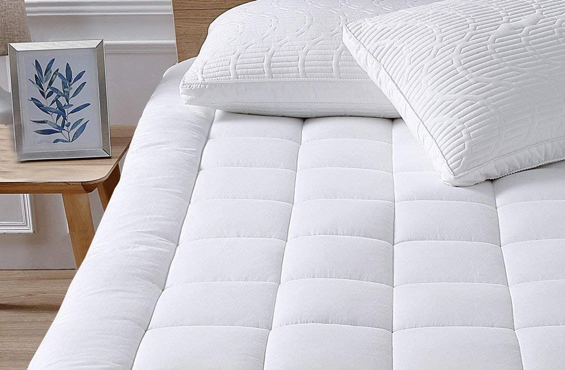 This plush mattress topper is way too comfy to be on sale for $40 at Amazon