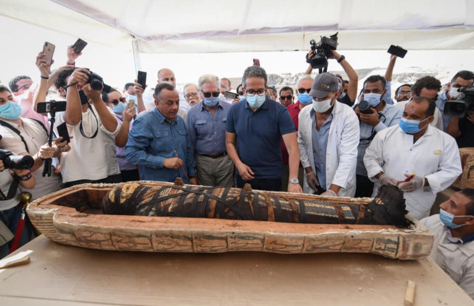 Opening ancient Egyptian coffins in 2020 seems like a bad idea, but it happened