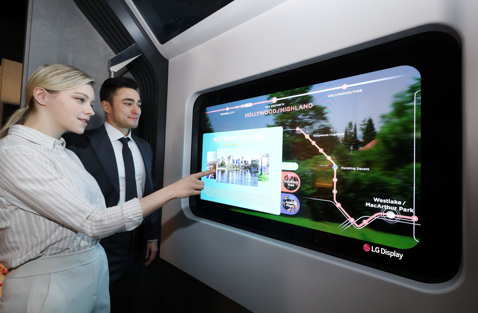 LG-Display-Transparent-OLED-on-Subway-Train
