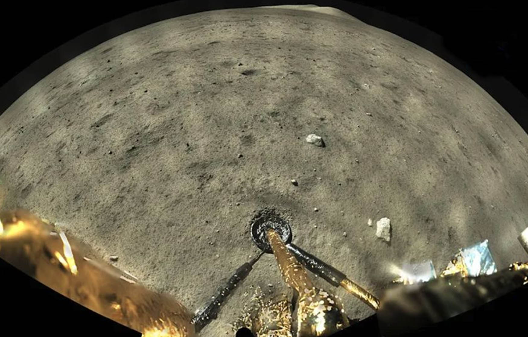 China's lunar lander collected samples and snapped color photos