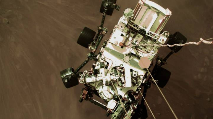 perseverance landing video