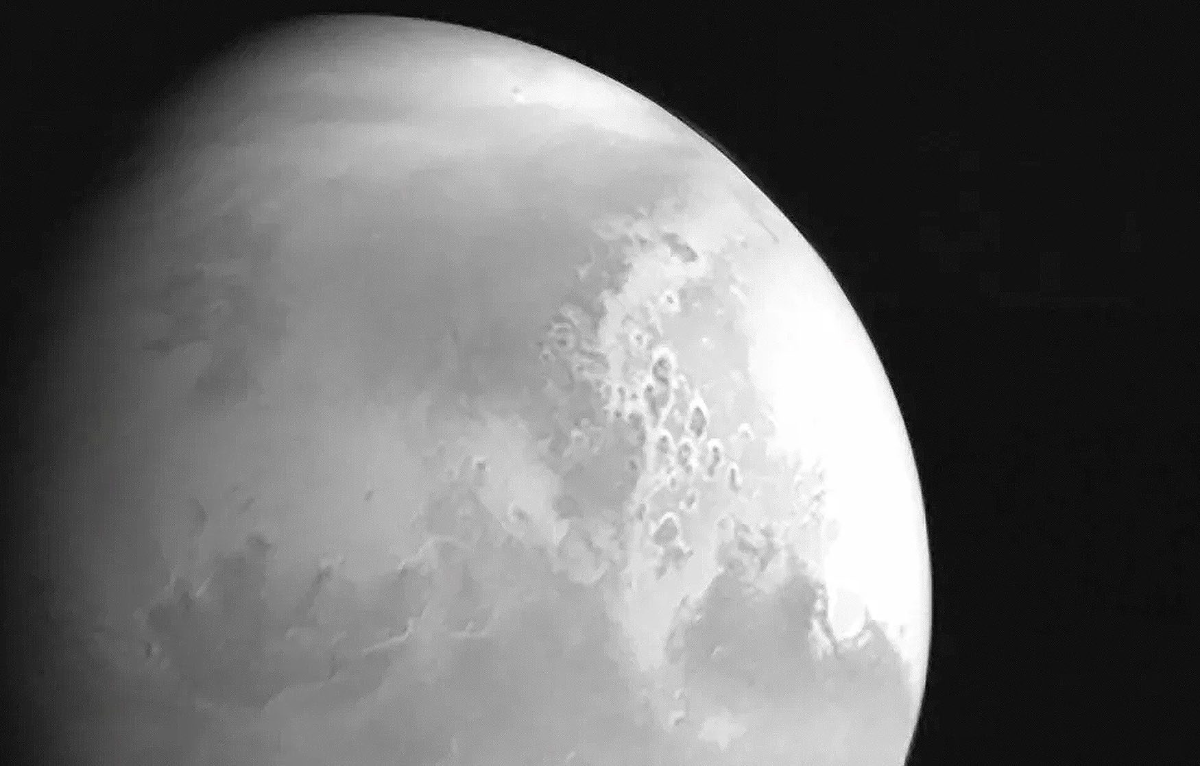 Here's the first photo from China's new Mars mission – and it's stunning