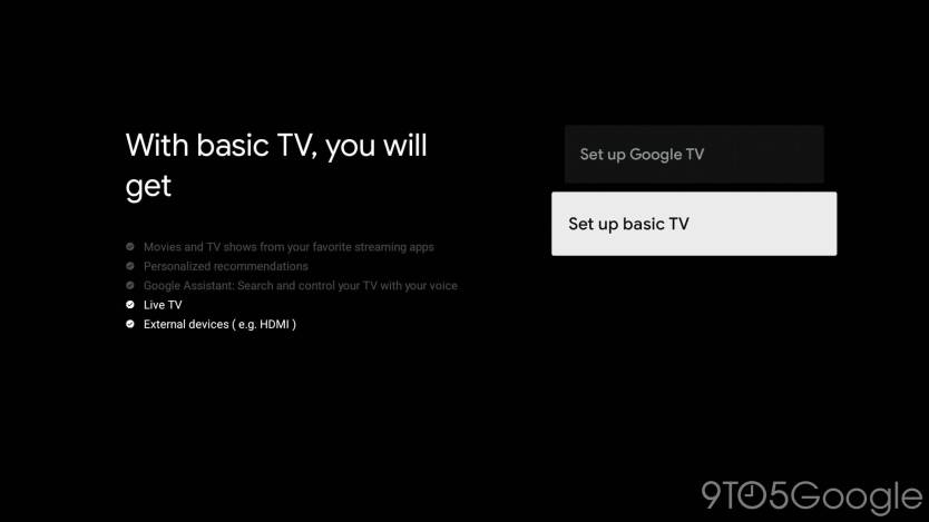 Google TV Setup