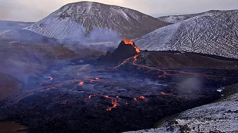 drone volcano