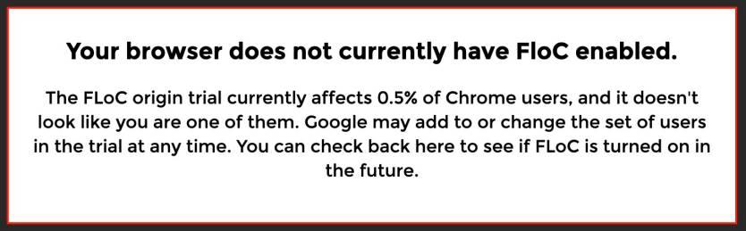 Google Chrome FLoC Check