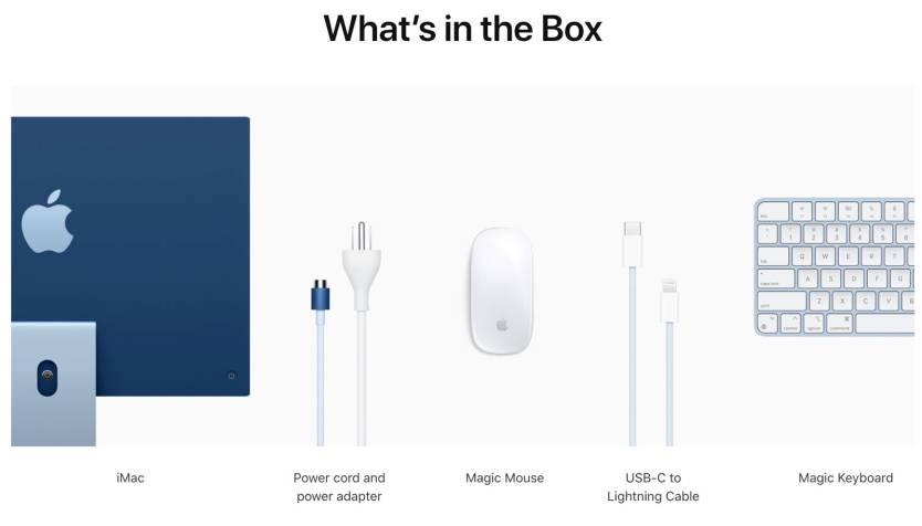 iMac 24-inch Box Contents