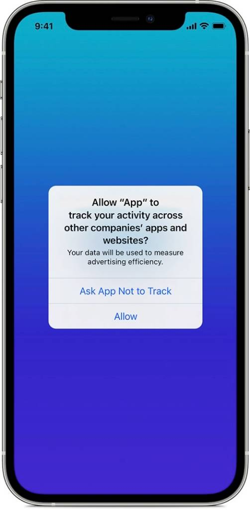 iOS 14.5 Tracking Prompt