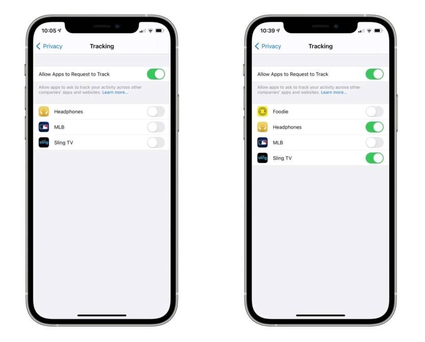 iOS 14.5 Tracking Settings