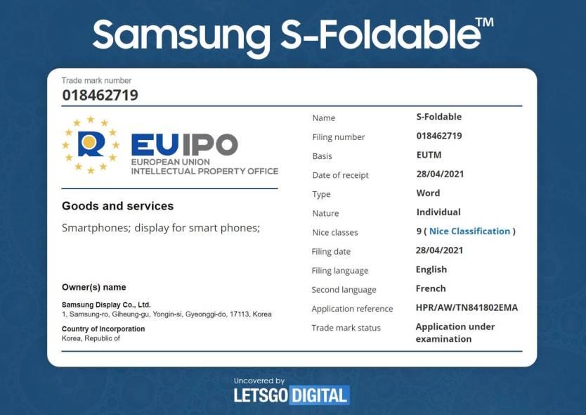 Samsung S-Foldable Display