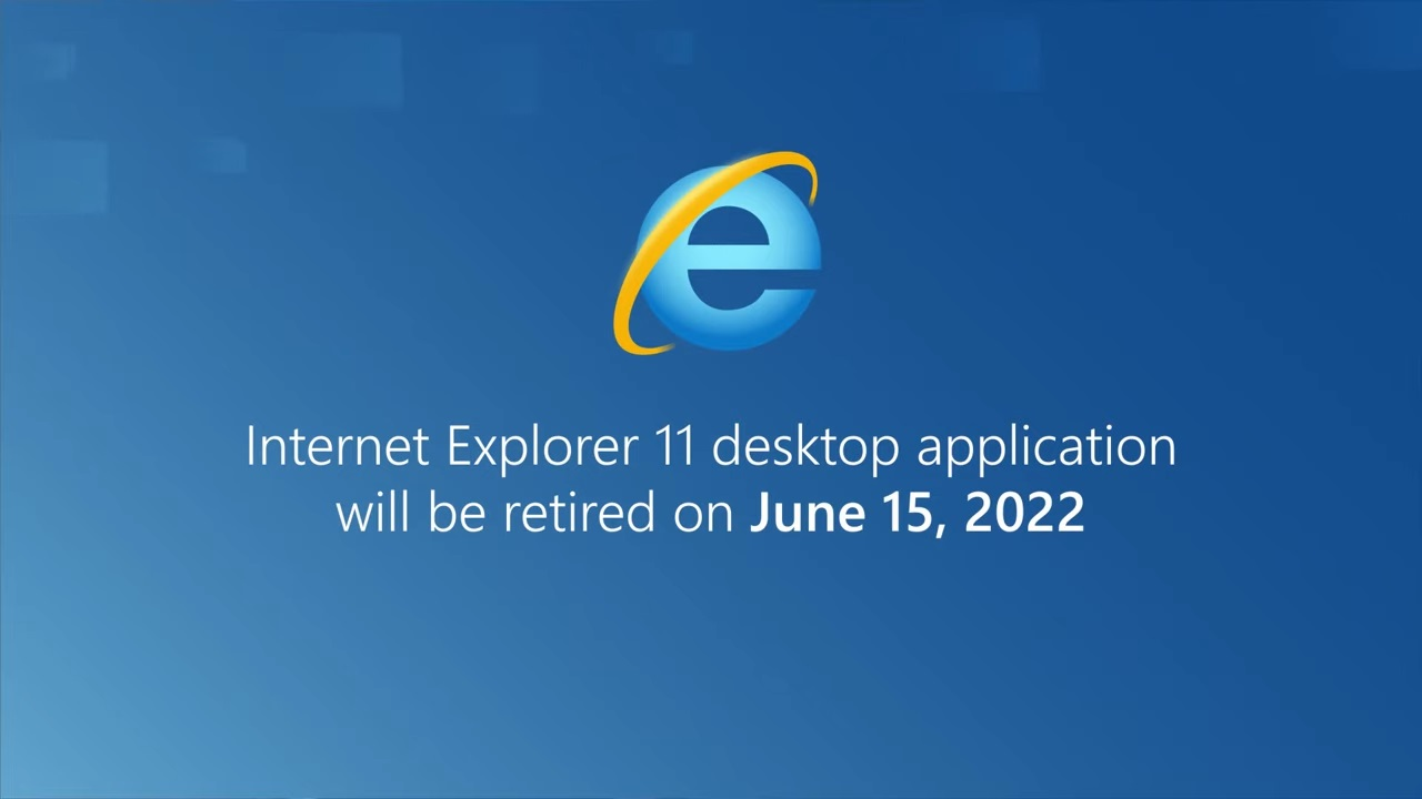 Internet Explorer retired