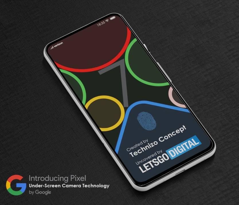 Google Pixel Under-Display Camera Concept
