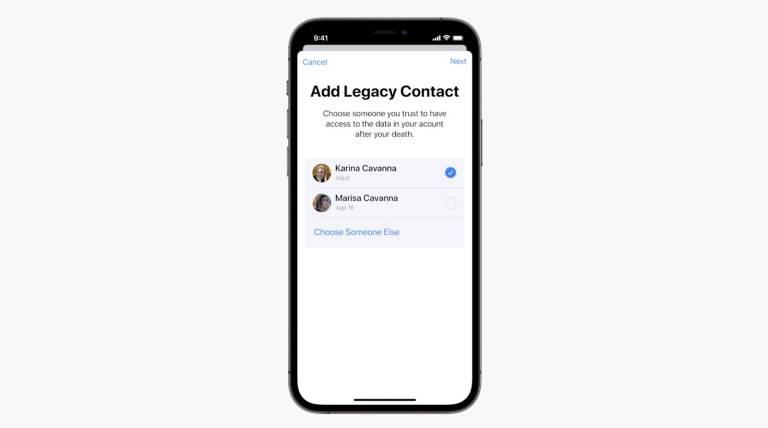 iCloud Digital Legacy