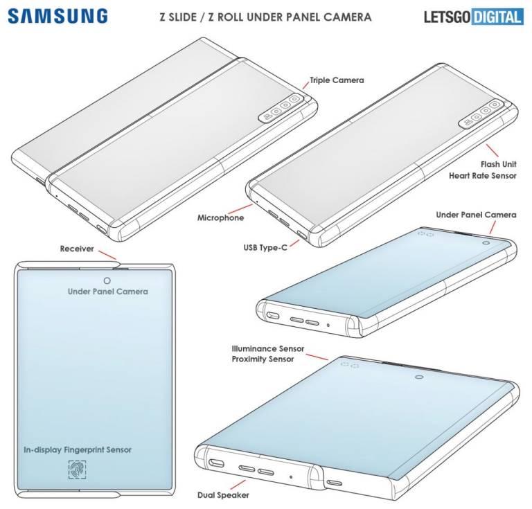 Galaxy Z Roll Patent