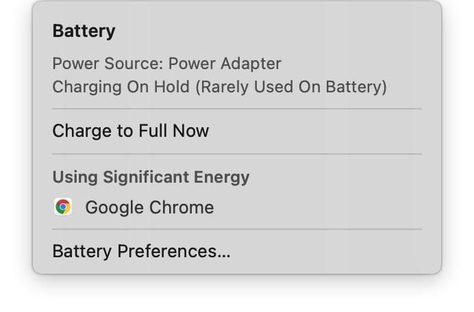 MacBook Optimized Battery Charging