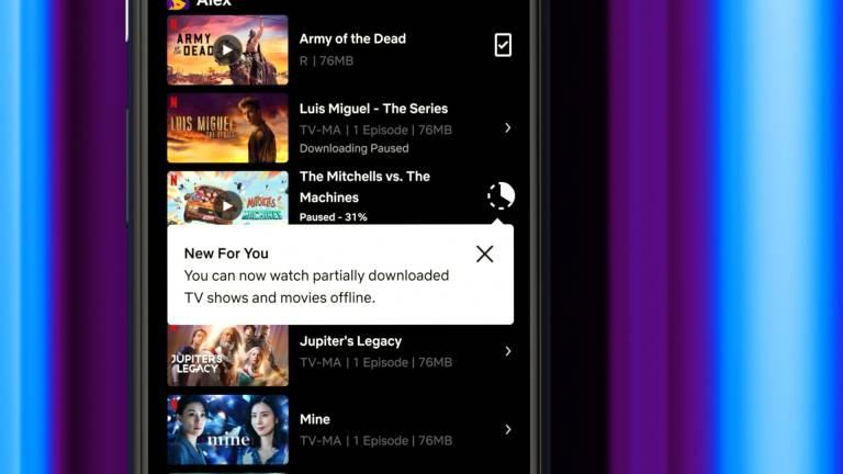 Mise à jour de l'application Netflix