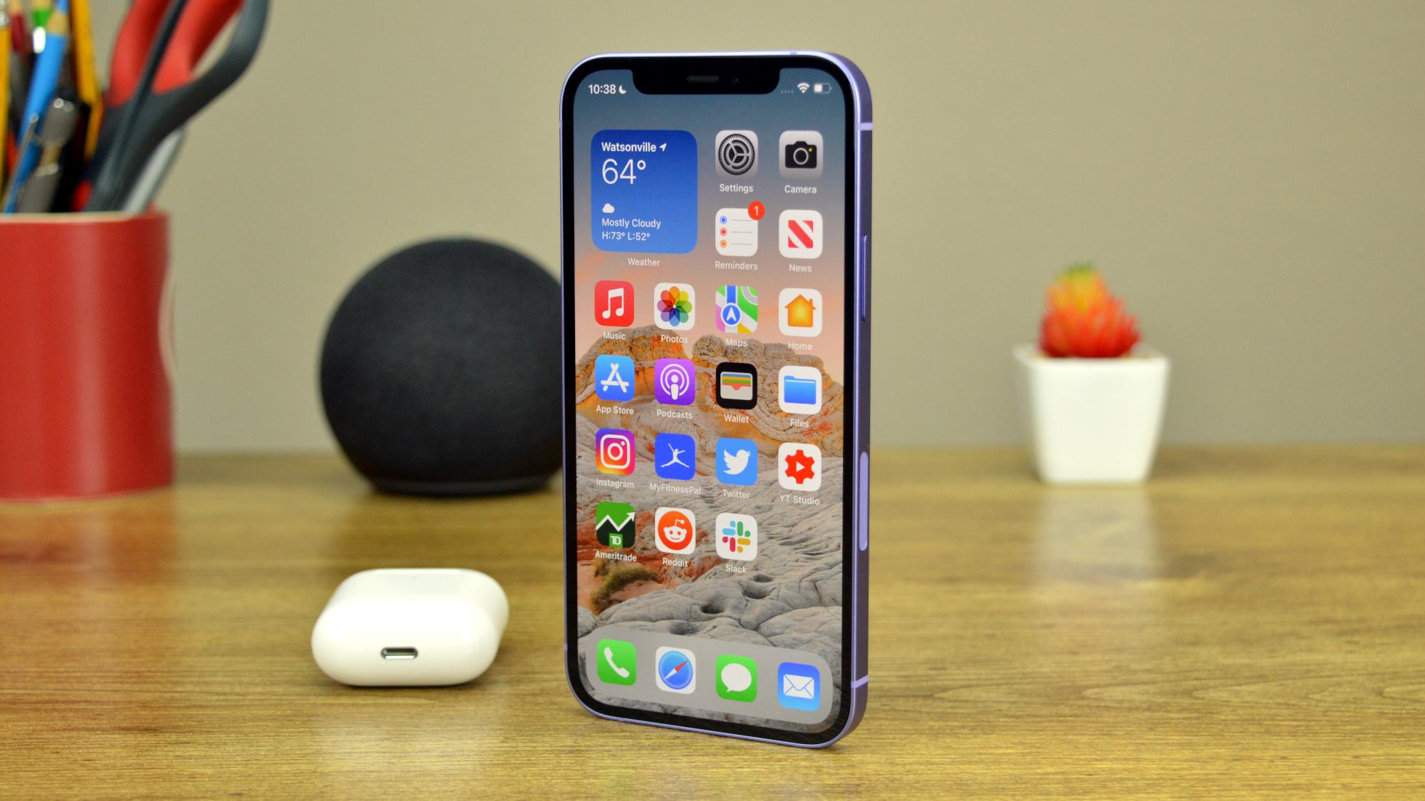 Apple iPhone 12 on Desk