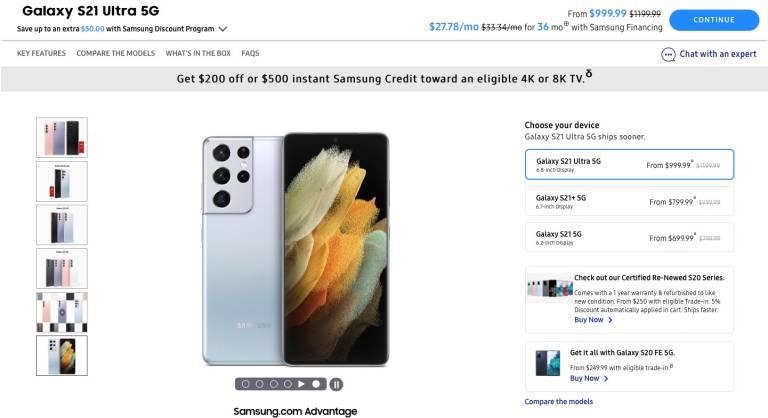 Galaxy S21 Price