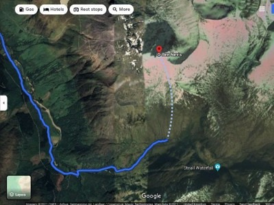 Google Maps Hiking
