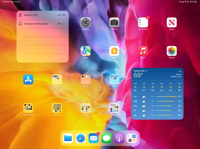 Apple iPadOS 15 Home Screen Widgets