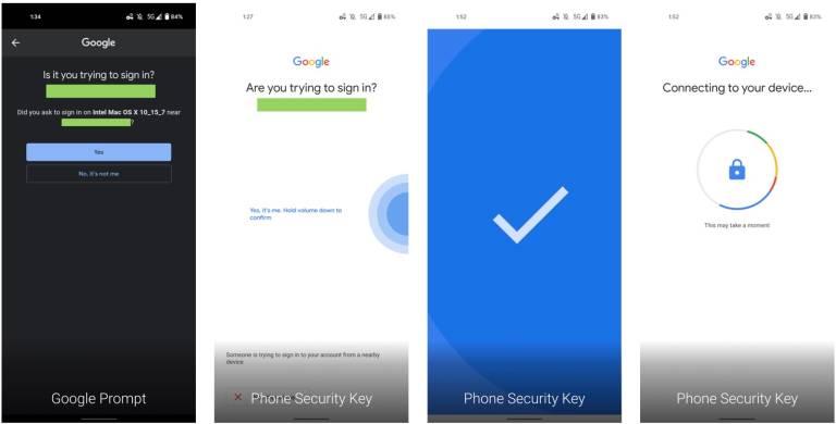 Chrome 2FA Android