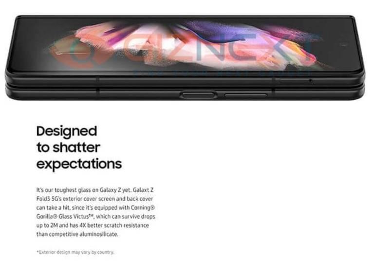 Galaxy Z Fold 3 Brochure Leak