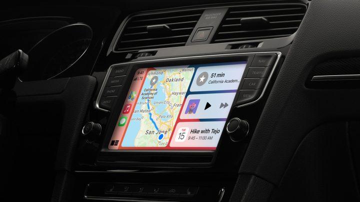 CarPlay screen on car's infotainment