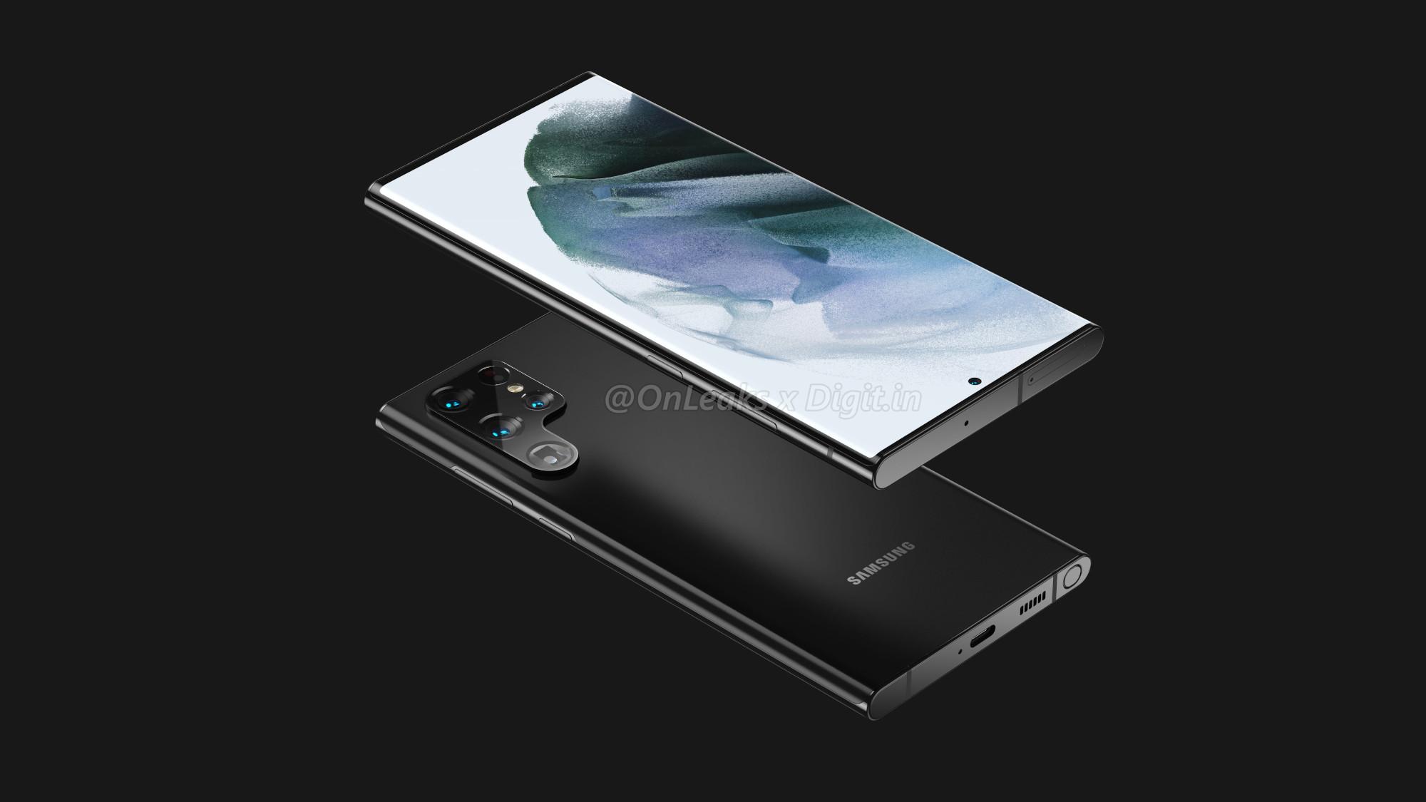 Samsung Galaxy S22 Ultra Render
