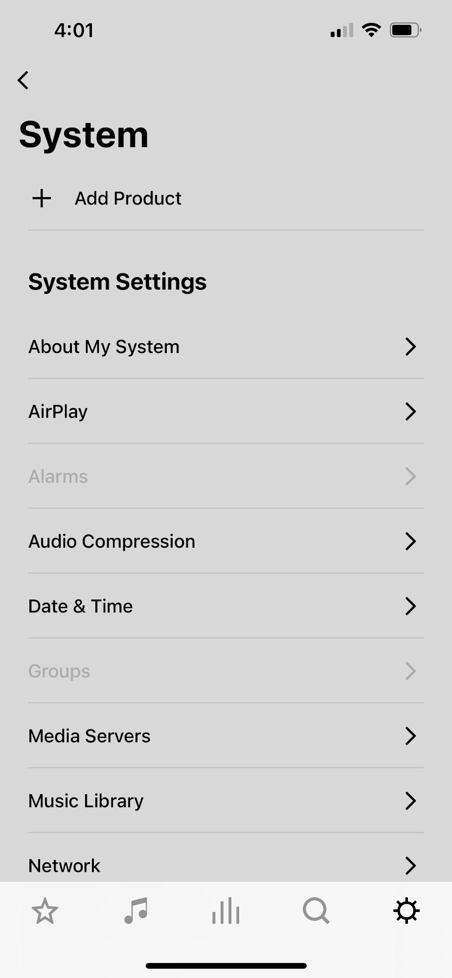 Sonos App Screenshot