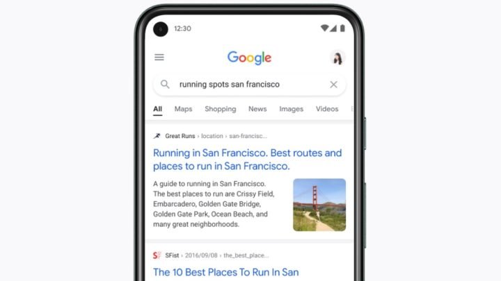 Google Search continuous scrolling
